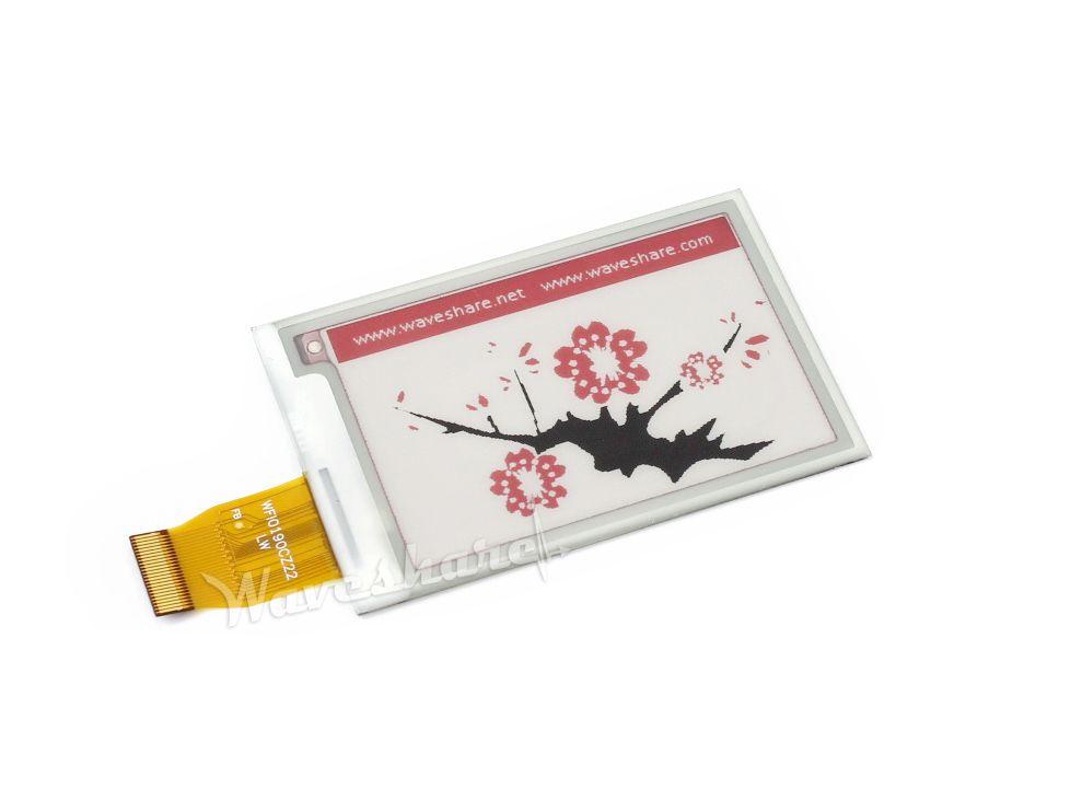 264x176, 2.7 pulgadas de pantalla E-ink B Sin PCB, de tres colores: rojo, negro, blanco, Interfaz de SPI, sin Luz de Fondo,