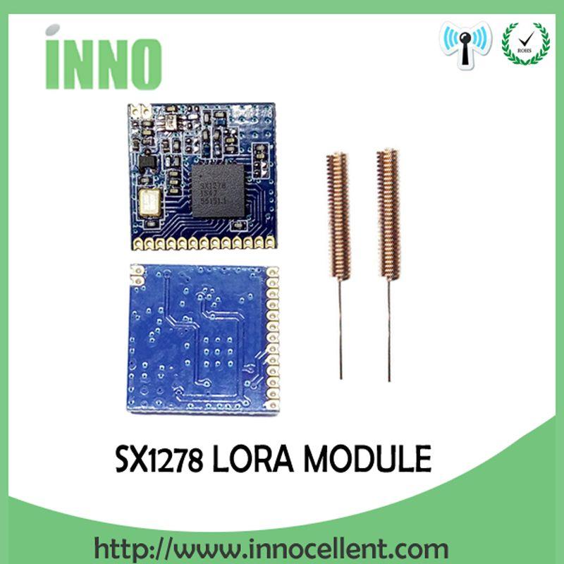 2 stücke RF LoRa modul SX1278 chip PM1280 Fern kommunikation Empfänger und Sender SPI LORA IOT + 2 stücke 433 MHz antenne