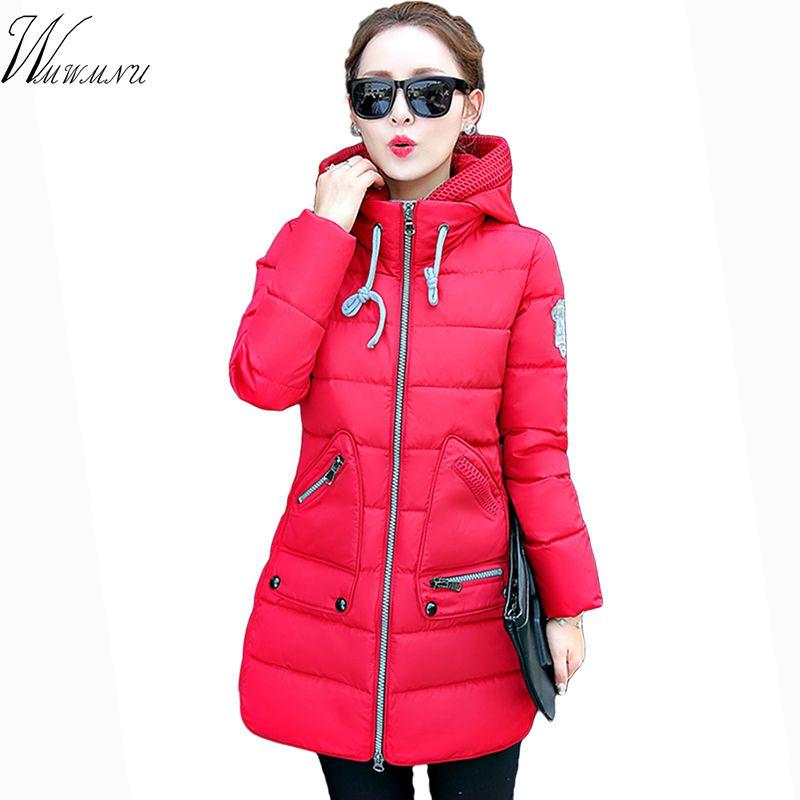 Wmwmnu marca venta caliente 7xl de más tamaño abrigo de invierno 2017 recién llegado de gran tamaño chaqueta de invierno femenina y Delgada mujer de invierno abrigos
