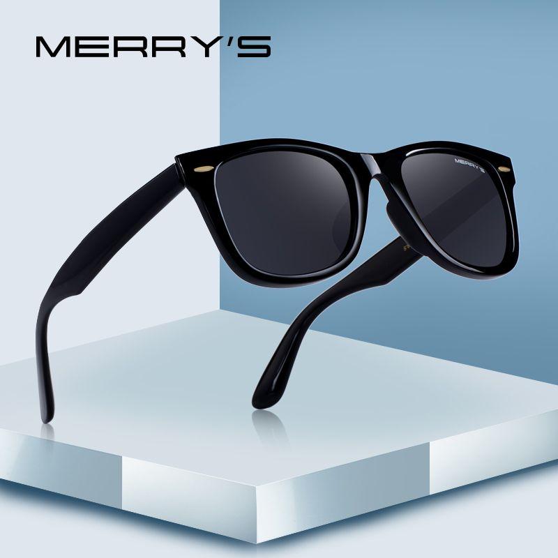 MERRYS DESIGN hommes/femmes classique rétro Rivet polarisé lunettes de soleil 100% UV Protection S8140