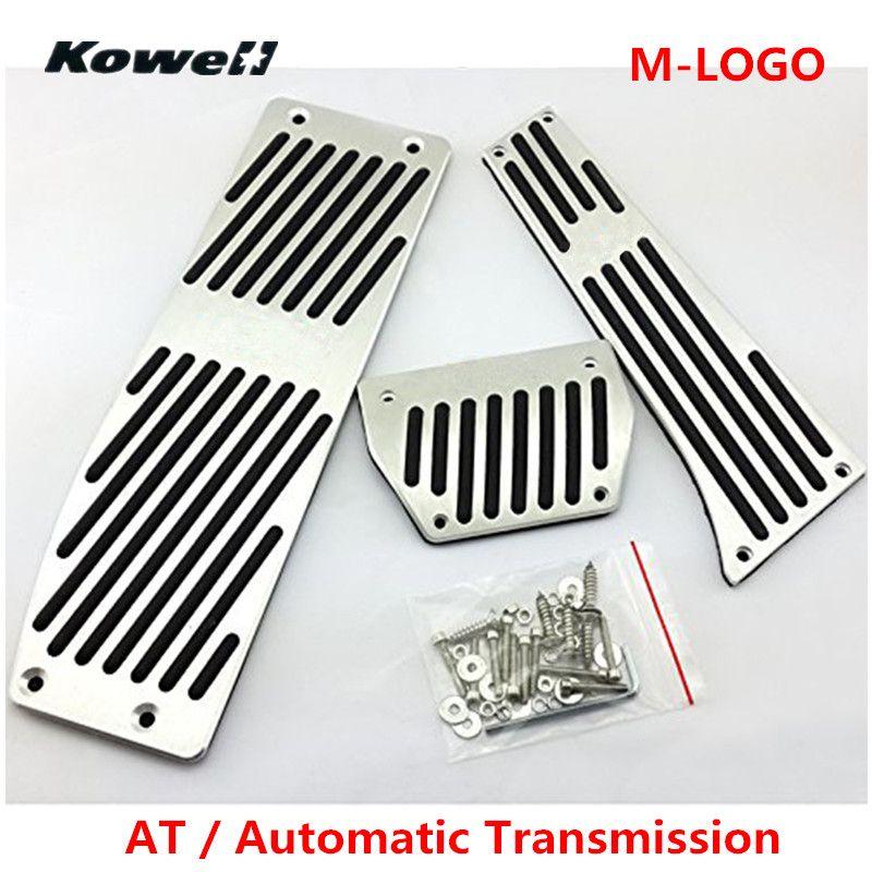 New M LOGO AT Foot Rest Fuel Brake Clutch Pedals Plate Cover Car Pedal Pads For BMW 3 Series X1 E30 E36 E46 E87 E90 E91 E92 E93