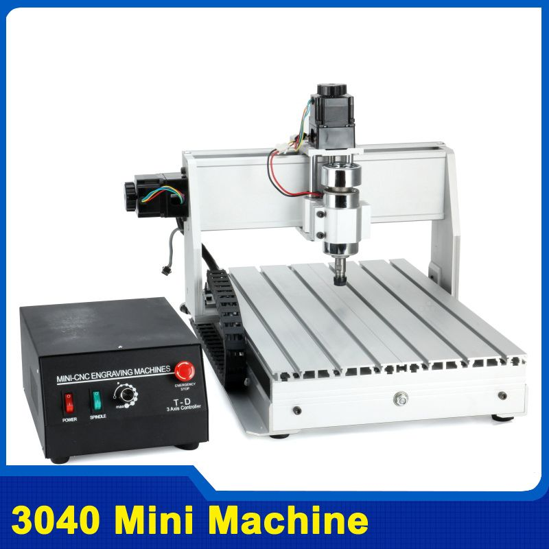 300W Three-axis Threads Screw CNC Router Engraver Engraving Milling Drilling Cutting Machine CNC 3040 T-D