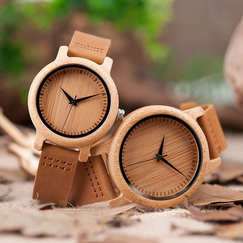 BOBO BIRD <font><b>Lovers</b></font> Minimalist Watches Men Wooden Women relojes para mujer Quartz Movement Wrsitwatch Ladies Handcrafted Wood