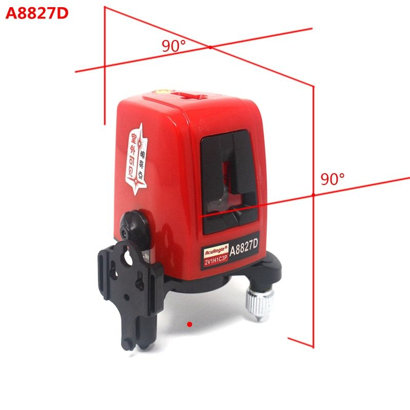 AcuAngle A8827D 3 Lines 3 points Laser Level 360degree Self-leveling Cross Laser Levels Red Line Measuring Tool for Construction