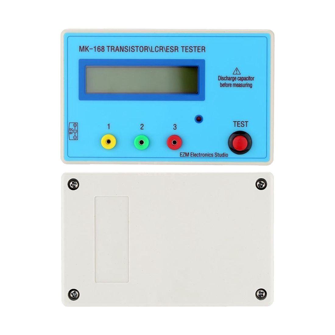LIXF MK168 Transistor LCR ESR Tester Diode Inductance Capacitance Meter PNP/NPN U1X9
