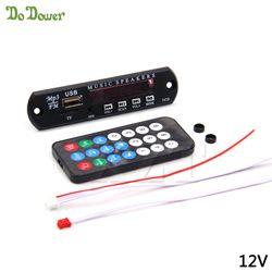 Newest TF Radio MP3 Decoder Board 5V/12V Micro USB Power Supply Audio Module for Car Remote Music Speaker