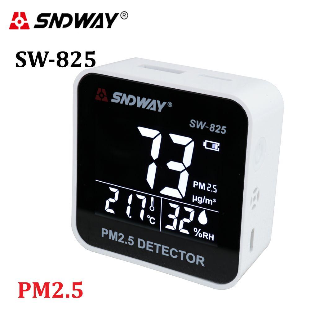 Moniteur numérique de qualité de l'air Laser PM2.5 détecteur testeur moniteur de gaz/analyseur de gaz/outil de Diagnostic de compteur d'humidité de la température