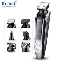 Kemei KM-1832 5 In 1 Tahan Air Isi Ulang Alat Cukur Listrik Baru Cutter Electric Hair Clipper Pemangkas Rambut Hidung untuk Pria