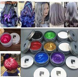 120g Unisex Hair Color Wax Mud Hair Dye Molding Hair Styling Coloring Paste Grandma Grey Green Hair Dye Wax Ceam Harajuku Style