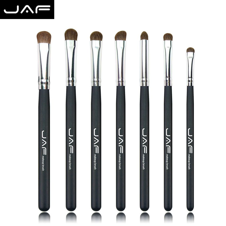 Retail JAF Brand 7PCS Makeup Brushes Professional Natural Hair makeup Brush Set Horse High Quality Make Up Brushes
