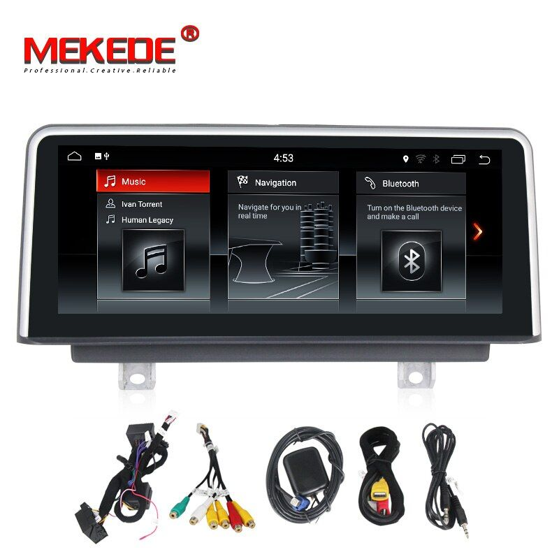 Pure android7.1 32G ROM car GPS navigator for BMW 1 Series F20/F21 3 Series F30/F31/F34 320 4 Series BNT system Free shipping