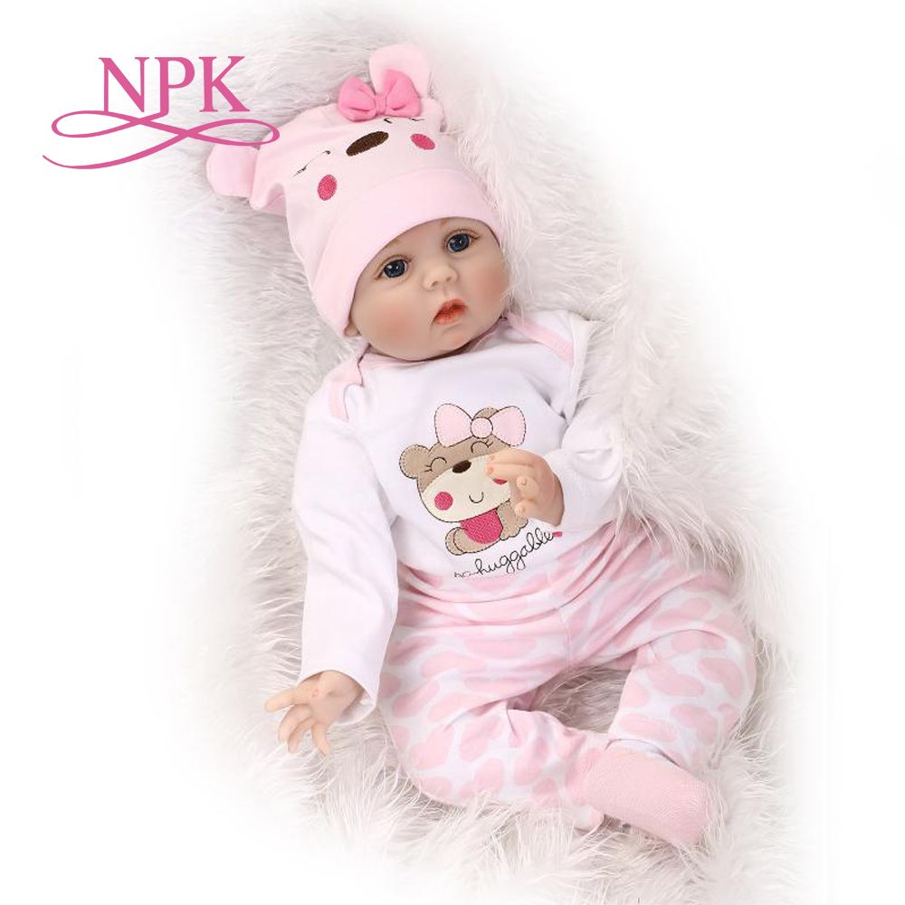 55CM Soft Body Silicone bebe Reborn Baby Doll Toy For Girls NewBorn Baby Birthday Gift Bedtime Early Education Christmas Gift