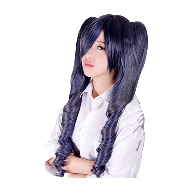 Perruques de Cosplay de cheveux synthétiques avec des queues de cheval amovibles