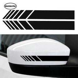Hotmeini 2 unids coche auto SUV vinilo etiqueta engomada gráfica del coche espejo retrovisor side Decal raya DIY coche Cuerpo calcomanías 15.3*2 cm