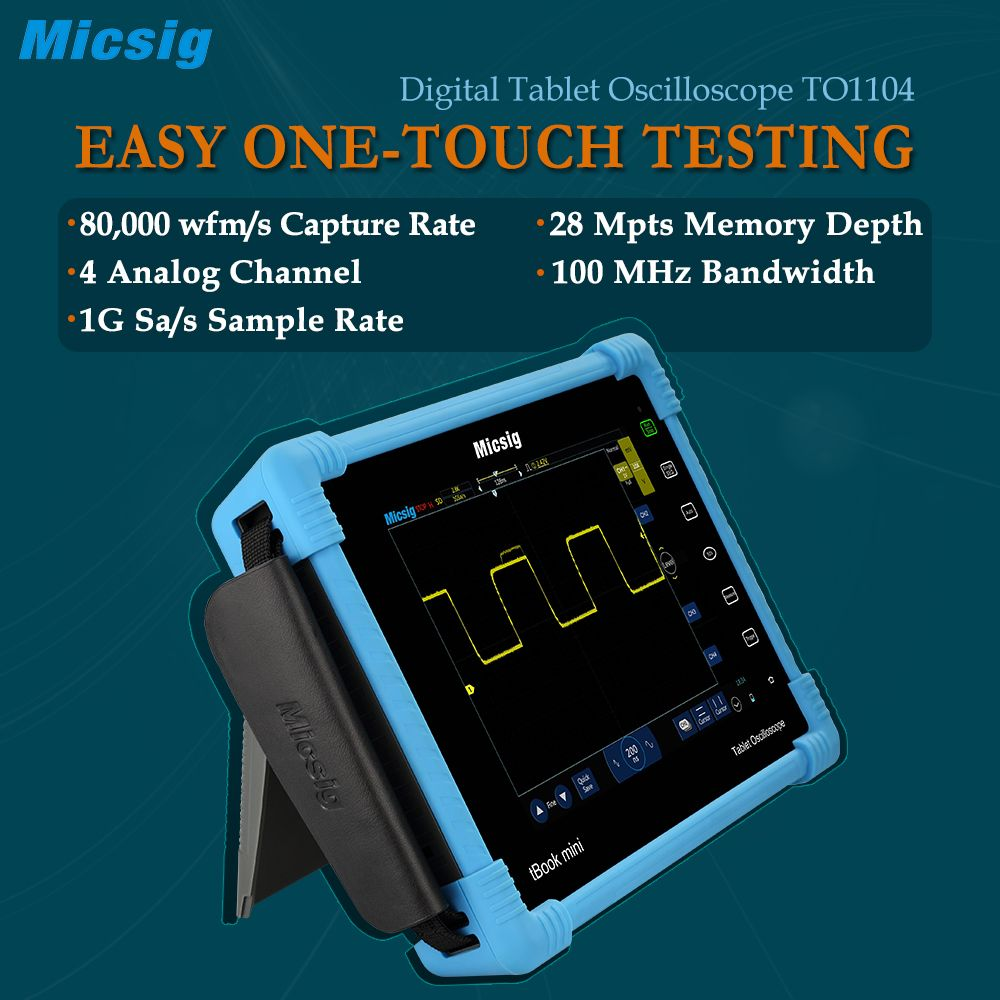 Digital Tablet Oscilloscope TO1104 100MHz 4CH 28Mpts oscilloscopes Automotive diagnostic touchscreen digital-oscilloscope sales