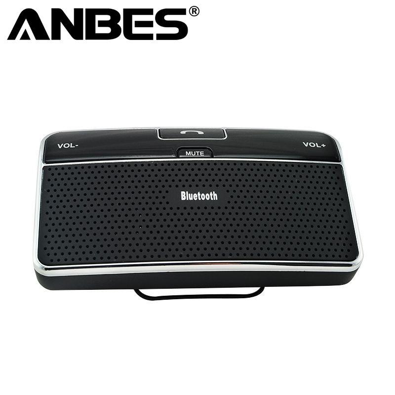 Anbes Universal Bluetooth Car 4.0 EDR In-Car Speakerphone Sun Visor Handsfree Car Kit Music Receiver Car Charger Bluetooth