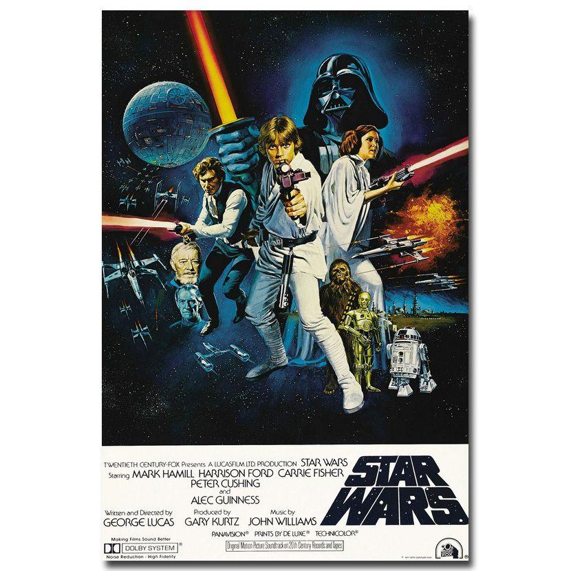 Star Wars 7 La Force Éveille Film Minimaliste Art Soie tissu Affiche Imprimer 13x20 24x36 Photos Pour Salon Décor 007