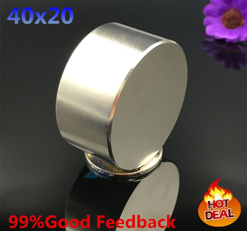 2pcs Neodymium magnet 40x20 mm gallium metal super strong magnet 40*20 Neodimio magnets  water meters speaker electromagnet