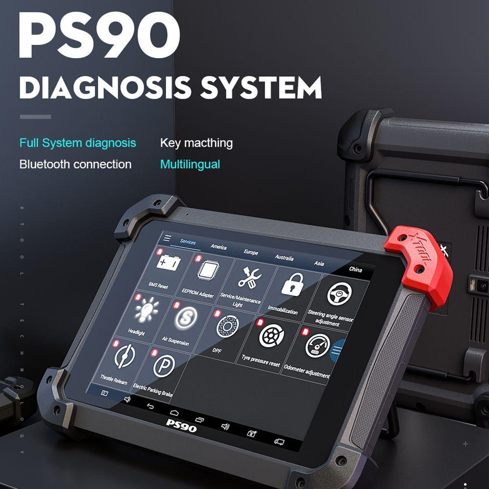 100% Original XTOOL PS90 Auto Diagnose System Tool Lebensdauer Online Update Code Reader Schlüssel Programmierer Gleiche Wie EZ500 EZ400 Pro
