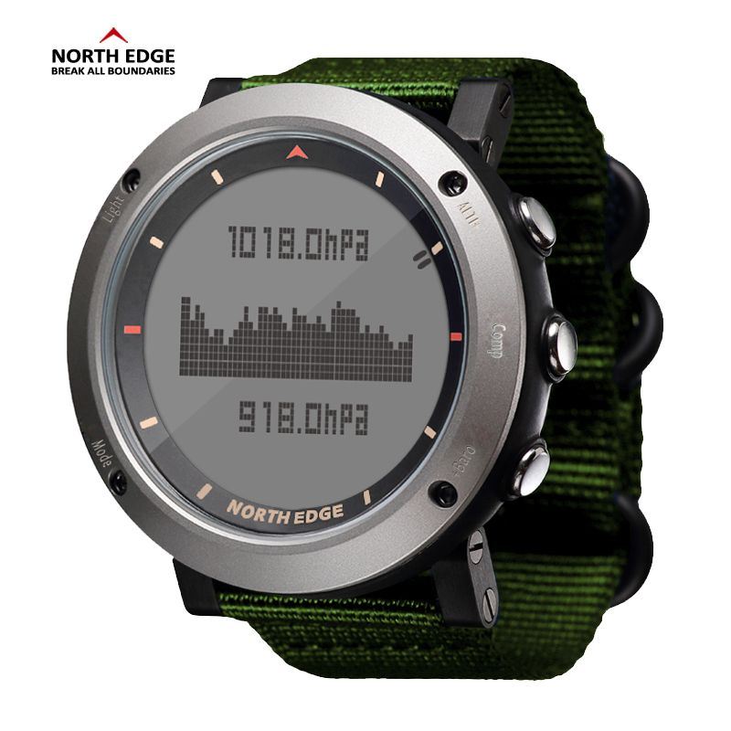 NORTH EDGE Men Sport Watch Altimeter Barometer Compass Thermometer Pedometer Calorie Hand Clock Digital Watches Running Climbing