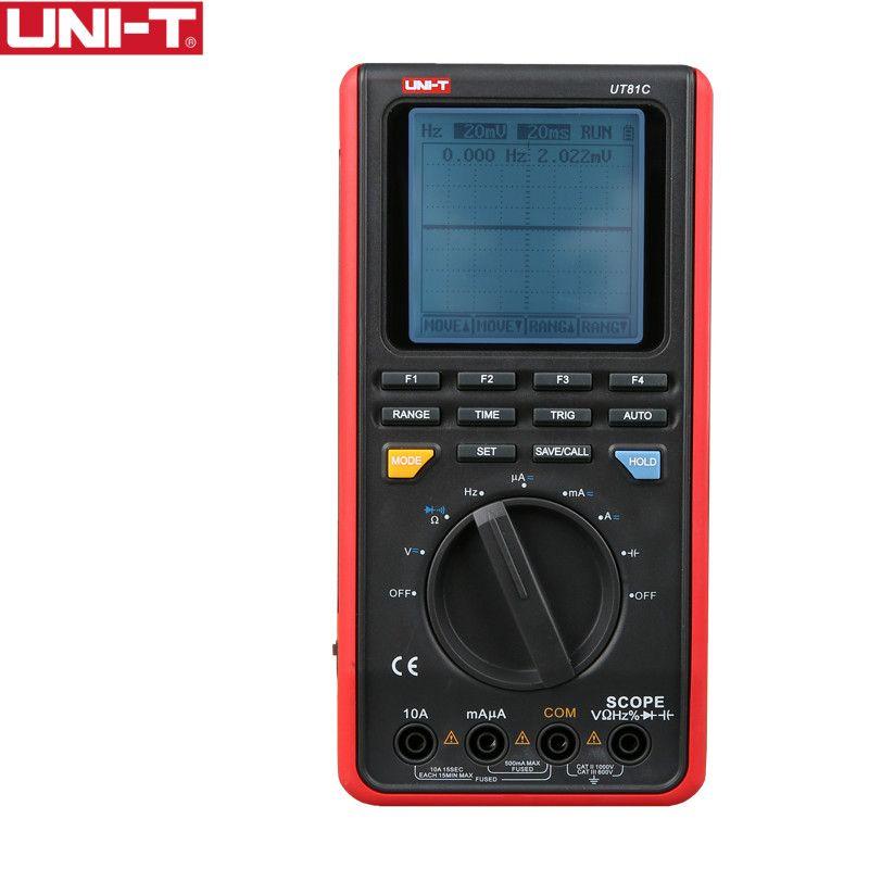 UNI-T UT81C Scope Digital Multimeters Mini Oscilloscope Input High Sensitivity Diode USB Interface PC Soft