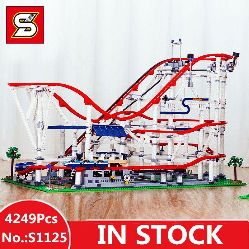 Spezielle Bieten DHL H & HXY S 1125 4249 stücke Die Roller Lustige Modell Coaster Set Buidling Blöcke Ziegel Kinder spielzeug Modell Geschenke 10261