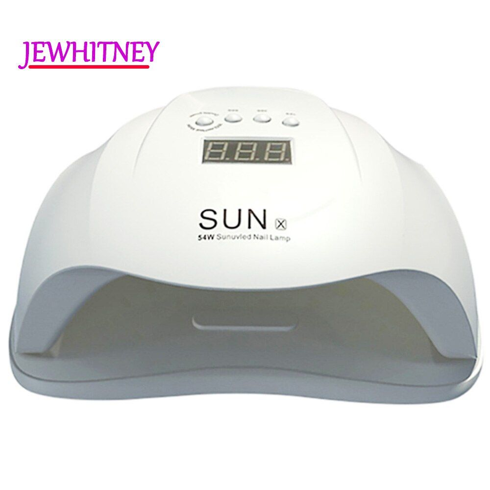 54W UV Nail Lamp LED Lamp For Manicure Nail Dryer For All Gels Polish Two Hand Lamp With Infrared Sensing 10/30/60s LCD display