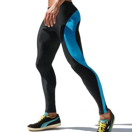 Pantalons de Compression pour hommes pantalons de survêtement extensibles pour hommes collants en Polyester pour hommes pantalons de survêtement M-XL