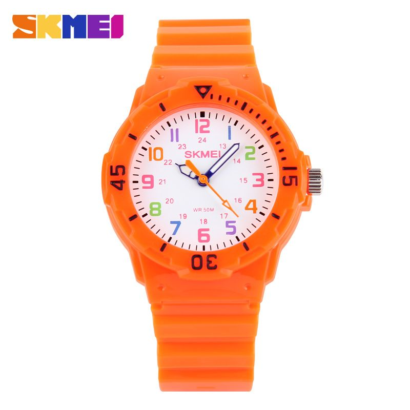 Skmei niños reloj moda casual relojes cuarzo relojes impermeable jalea niños reloj horas Muchachas estudiantes reloj