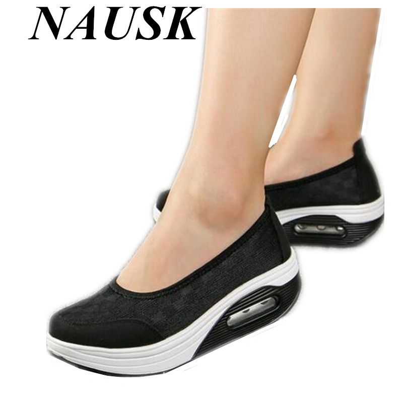 2018 NWomen genuine leather shoes female thick flats shoes casual comfort low heels flat loafers nurse shoes women mujer size 42