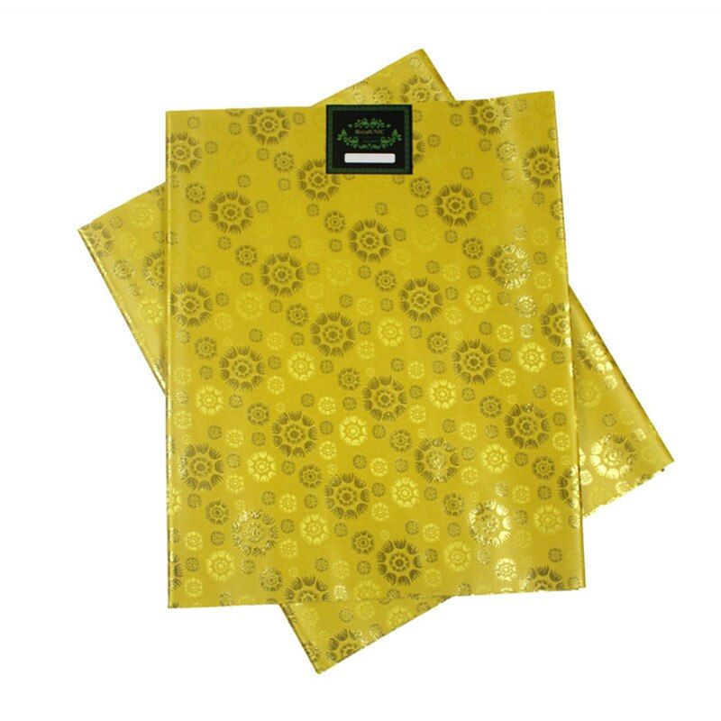 SL-1510 Hot selling african HEADTIE SEGO head tie Gele Wrapper 2pcs/set High Quality Many Colors Available YELLOW
