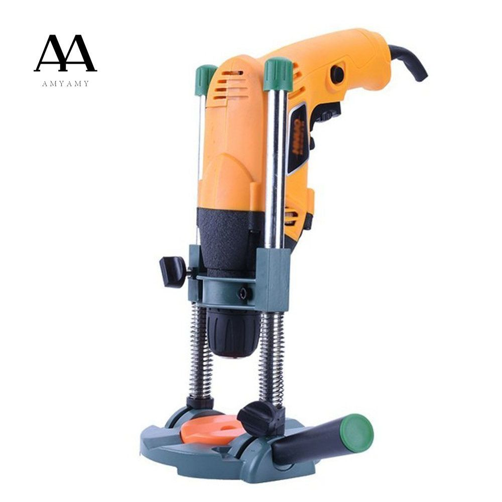 AMYAMY Precision Drill Guide Pipe Drill Holder Stand Drilling Guide with Adjustable Angle and Removeable Handle DIY tool
