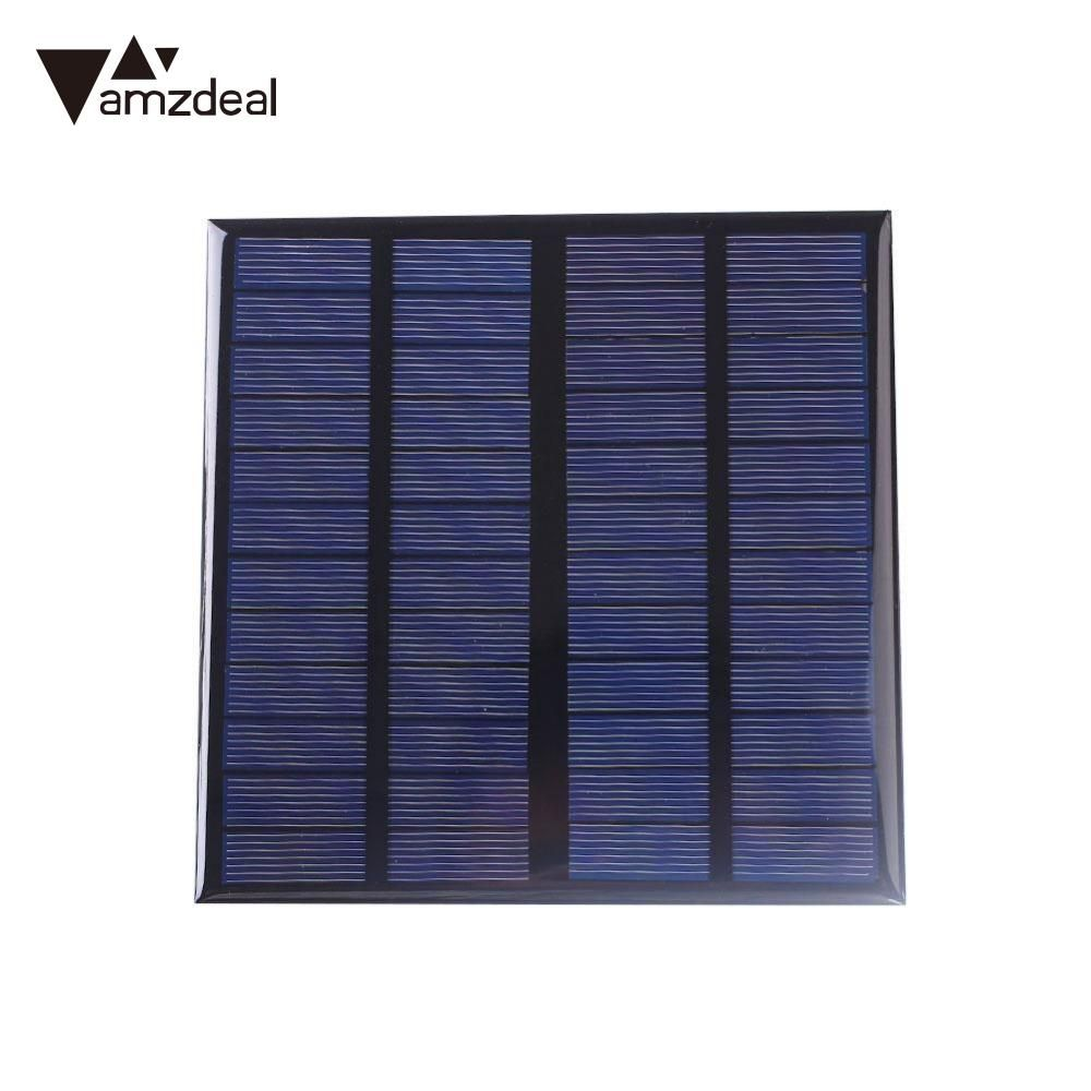 Amzdeal 3W 12V Polysilicon Solar Panel Power Portable DIY Sunpower Cell Battery Charger Module Outdoor Camping High Quality