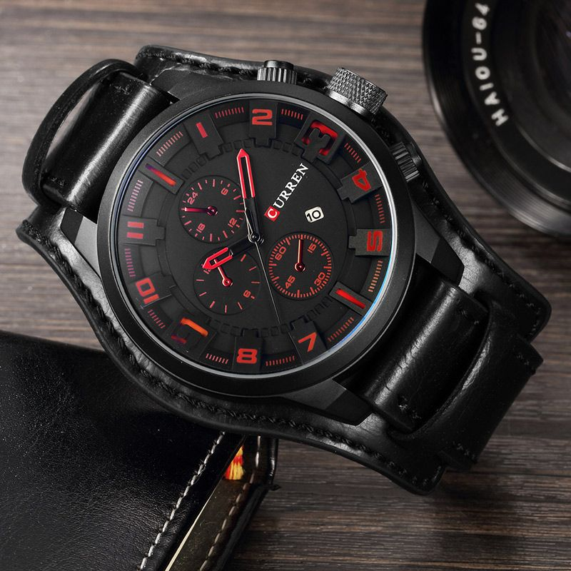 Relogio Masculino Curren Steampunk Sports Men Watch Top Brand Luxury Army Military Uhr Quartz Men Wrist Watch Reloj <font><b>Hombre</b></font> 8225