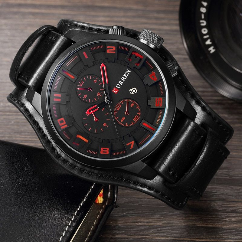 Relogio Masculino Curren Steampunk <font><b>Sports</b></font> Men Watch Top Brand Luxury Army Military Uhr Quartz Men Wrist Watch Reloj Hombre 8225