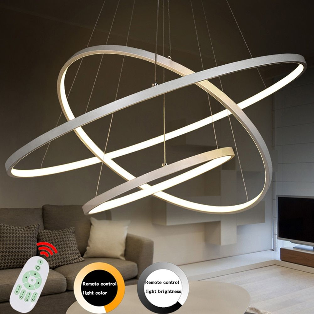 Modern Led Chandelier Lighting With Remote Control Dimmable Chandelier Lamp For Living Room Bedroom Restaurant Kitchen Fixtures
