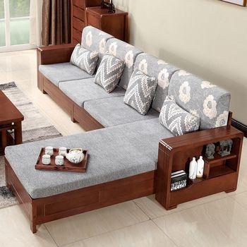 Meubles salon moderne en bois Massif Simple canapé table basse combinaison