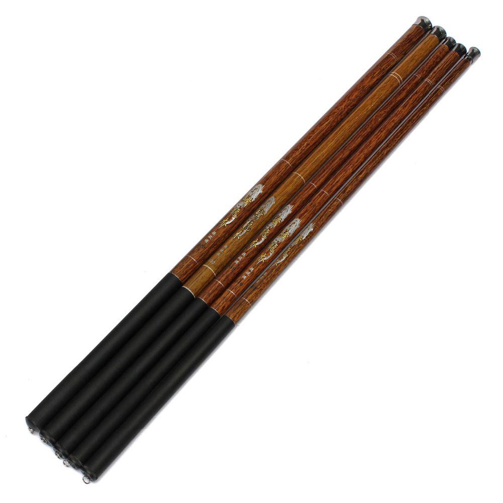 Ultra-léger dur 3.6/4.5/5.4/6.3/7.2 mètres courant main pôle en Fiber de carbone coulée télescopique cannes à pêche poisson attirail main pôle