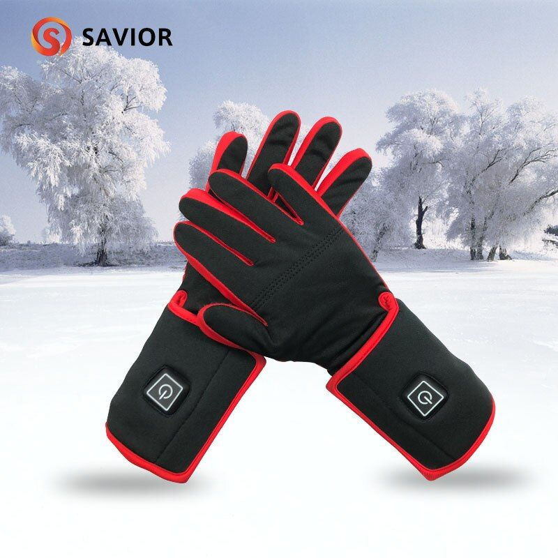 SAVIOR RED Heated Glove liner Powered For Winter Warmer 3 Level Control 3-6 Hours Heating outdoor sports 7.4V 2200MAh battery