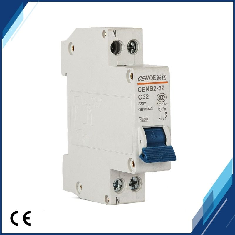 manufacturer selling  line overload and short circuit protection DPN 1P+N32A 230V~ 50HZ/60HZ 1P circuit breaker for residential