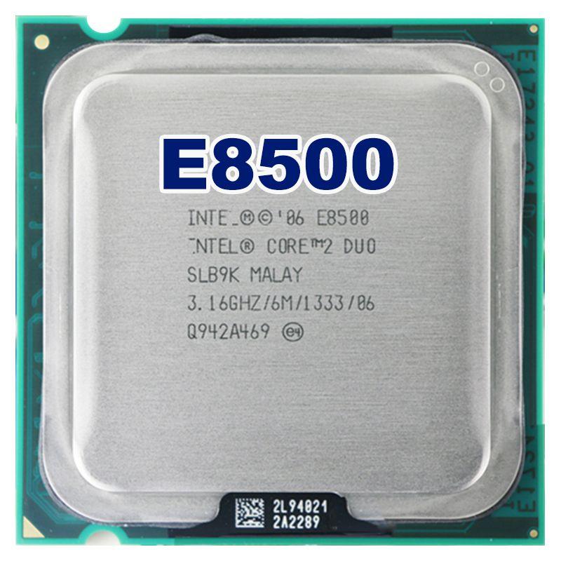 Intel core 2 duo E8500 CPU Prozessor (3,16 Ghz/6 Mt/1333 GHz) Buchse 775 freies verschiffen motherboard cpu combo