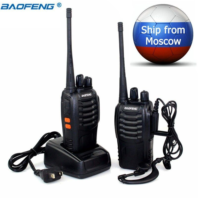 2 PCS Baofeng BF-888S Walkie Talkie 5W Two-way radio Portable CB Radio UHF 400-470MHz 16CH Comunicador Transmitter Transceiver