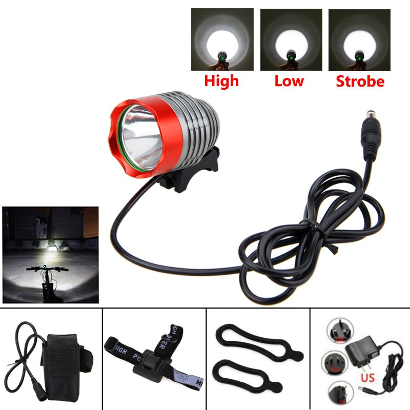 8000 lumen XM-L T6 LED Bicycle Light Headlamp Front Head Torch Bike Headlight with Battery <font><b>Pack</b></font>+Charger