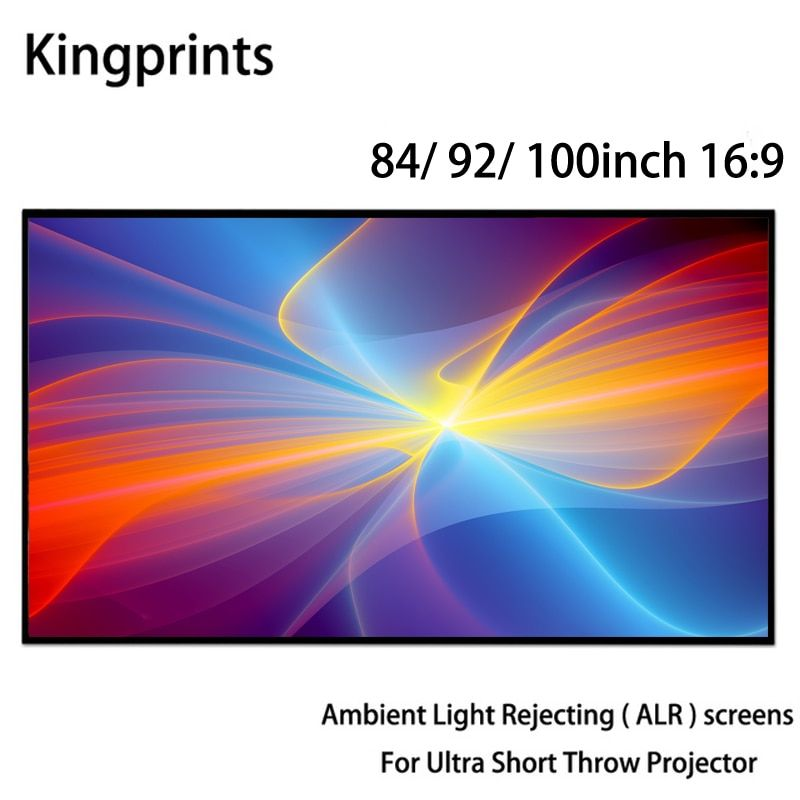 Ambient Light Rejecting ALR Thin Frame 84 92 100inch Projection Screen For WEMAX One Sony Ultra Short Throw UST Projectors