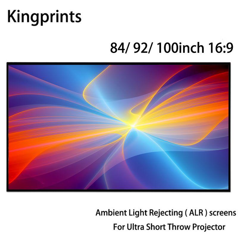 Umgebungs Licht Ablehnung ALR Dünnen Rahmen 84 92 100 zoll Projektion Bildschirm Für WEMAX One Sony Ultra Kurze Werfen UST projektoren