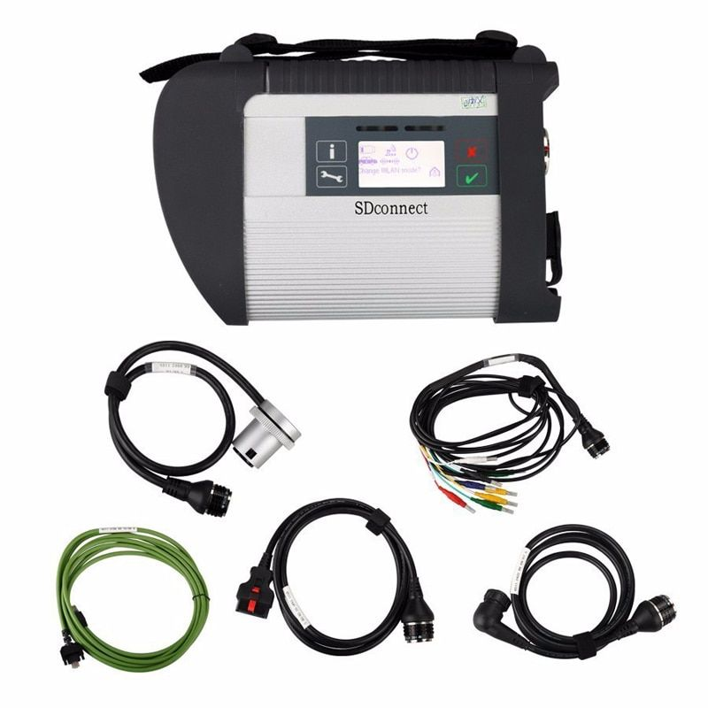 2018 MB Star Compact 4 full set with wifi support Multi-anguages SD Connect C4 For MB Cars and Ttucks Diagnostic good quality