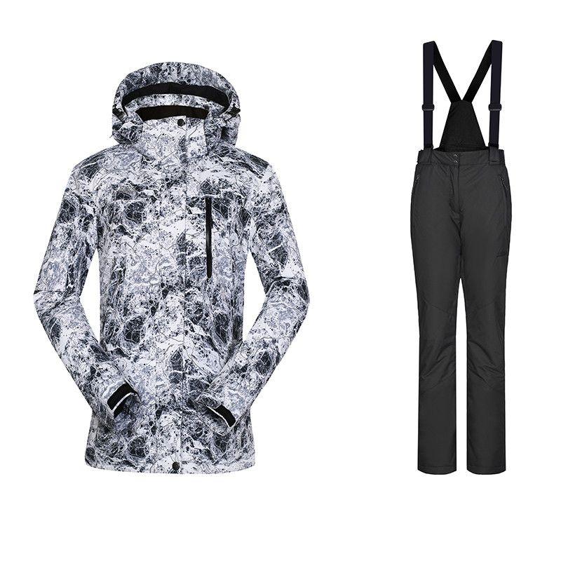 High Experience Ski Suit Women Waterproof Thermal Snowboarding Suits Female Winter Jacket Pants Women Tracksuit For Women 42-52