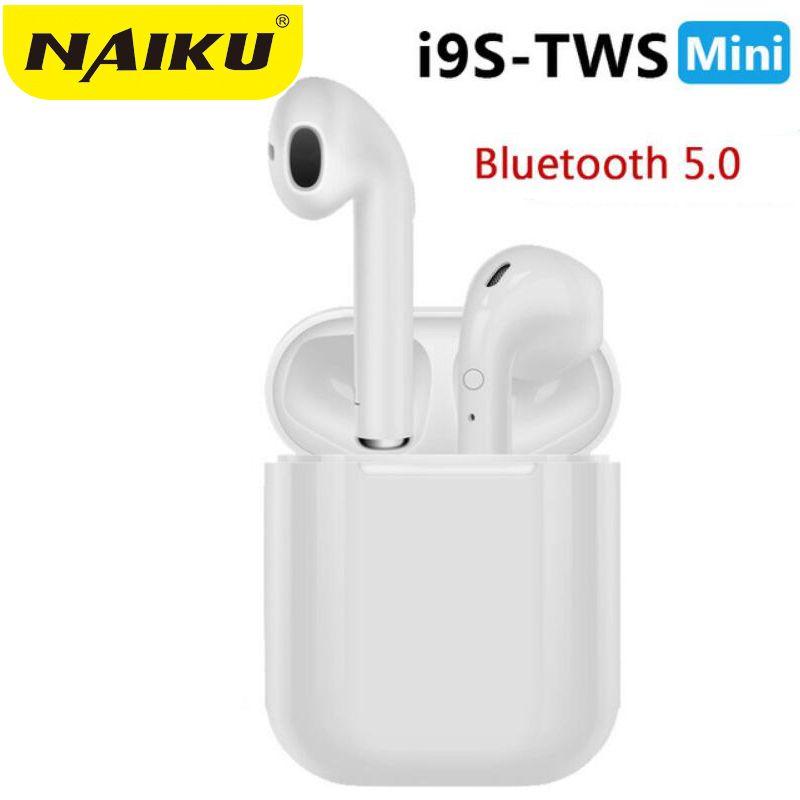 Vente chaude NAIKU i9s TWS Mini sans fil Bluetooth écouteur stéréo casque avec boîtier de charge micro pour tous les téléphones intelligents