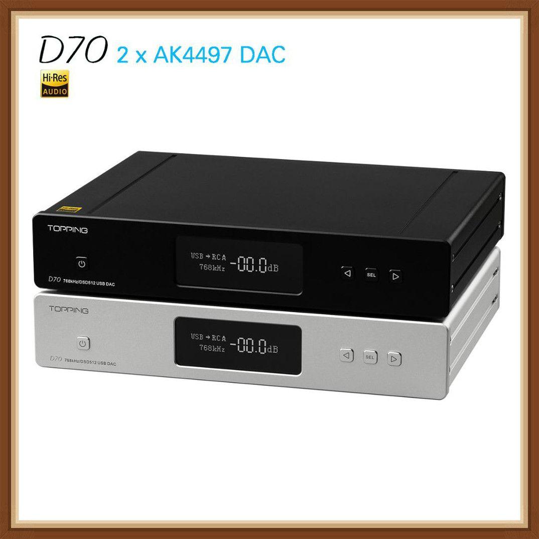 NEUE RICHT D70 AK4497 * 2 AK4118 USB DAC XMOS AUDIO DSD512 32bit 768 khz Desktop Decoder Unterstützung für IIS eingang