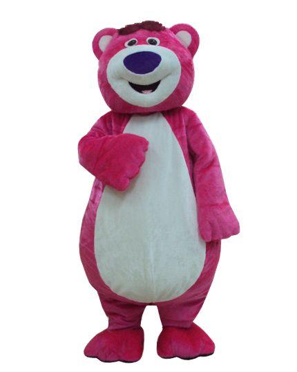 Toy Story Lots-O'-Huggin' Bear Lotso Mascot Costume Fancy Party Dress Free Shipping